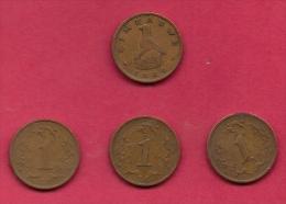 ZIMBABWE, 1986, 4 Off, Nicely Used Coins 1 Cent KM1 C2726 - Zimbabwe