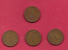 ZIMBABWE, 1988, 4 Off, Nicely Used Coins 1 Cent KM1 C2727 - Zimbabwe