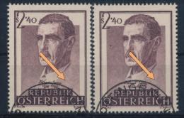 °Österreich Austria 1957 ANK 1041 + 41III Mi 1032 (1+1) Error Dr. Wagner-Jauregg Psychiatrist Medicine Used - 1945-.... 2. Republik