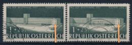 """°Österreich Austria 1957 ANK 1047 + 47II Mi 1039 (1+1) Error """"besch. Fenster"""" Postamt Linz Used - 1945-.... 2. Republik"""