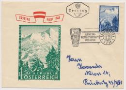 FDC Österreich Austria 1958 ANK 1048 Mi 1040 Mountains Alpine Skiing Sport FIS - FDC