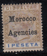 Morocco Agencies 1899 QV Gibraltar Overprinted SG12 VFUsed - Gran Bretagna (vecchie Colonie E Protettorati)