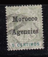 Morocco Agencies 1905 QEVII Gibraltar Overprinted SG24 FUsed - Gran Bretagna (vecchie Colonie E Protettorati)