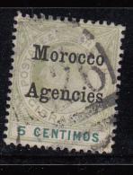 Morocco Agencies 1905 QEVII Gibraltar Overprinted SG24 FUsed Cancel A26 - Gran Bretagna (vecchie Colonie E Protettorati)