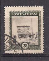 VATICANO 1933 GIARDINI E MEDAGLIONI SASS. 23 USATO VF - Usati