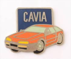 Pin's  CAVIA - Voiture Berline Rouge  - E082 - Volkswagen