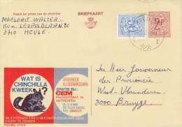 Belgien 1970 - Werbekarte 2 Fach Frankiert - Werbung