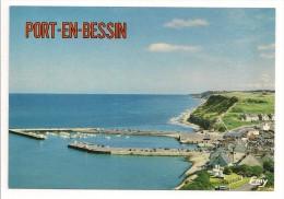 14 - PORT-EN-BESSIN - Vue Générale Sur L'entrée Du Port Et Les Falaises - Ed. Le Goubey - Port-en-Bessin-Huppain