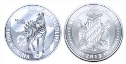 "ZAMBIA  1.000  KWACHA    2.015  2015   ""ZEBRA""  PLATA / SILVER   SC/UNC   T-DL-11.282 - Zambia"