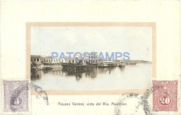 7152 PARAGUAY ASUNCION CUSTOMS ADUANA CENTRAL VISTA DEL RIO & SHIP POSTAL POSTCARD - Paraguay