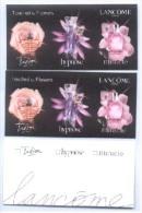3 X Singapore Perfume Cards Cartes Parfumees -- LANCOME TOUCH BY FLOWERS - Cartes Parfumées