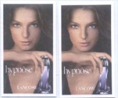 2 X Singapore Perfume Cards Cartes Parfumees -- LANCOME HYPNOSE WOMEN (#1) - Modern (from 1961)