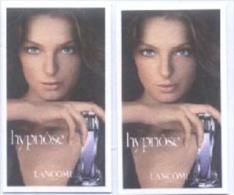 2 X Singapore Perfume Cards Cartes Parfumees -- LANCOME HYPNOSE WOMEN (#1) - Perfume Cards