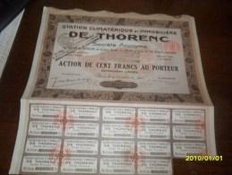 1928- ACTION De 100Frs  (**IMMOBILIERE De THORENC   ** ++ COUPONS ) Siege A PARIS - Tourisme