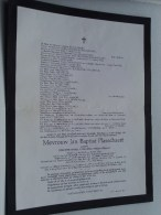 Jan Baptist PLASSCHAERT 4/9/1867 Tilburg / 22 Jun 1964 Lier ( Doodsbrief / Nécrologie - Details Zie Foto ) !! - Non Classés