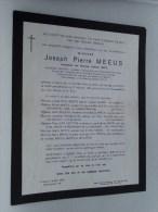 Joseph Pierre MEEUS 14 Dec 1894 Leuven / 27 Feb 1965 ( Doodsbrief / Nécrologie - Details Zie Foto ) !! - Non Classés