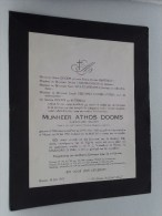 Athos DOOMS 22 Oct 1886 Marchienne-au-Pont / Herent 19 Jul 1952 ( Doodsbrief / Nécrologie - Details Zie Foto ) !! - Faire-part
