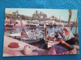 Mallorca. Palma. Remendando Redes En El Muelle De Pescadores. Casa Planas (Nevcolor) 105 Por Sabena Jet. - Mallorca