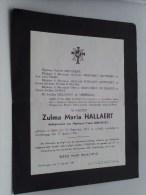 Zulma Maria HALLAERT 24 Sep 1879 Melle /  Gentbrugge 17 Jan 1940 ( Doodsbrief / Nécrologie - Details Zie Foto ) !! - Announcements