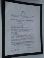 Anna Maria VANDENDURPEL 3 Dec 1877 Wetteren / 1964 14 Juli ( Doodsbrief / Nécrologie - Details Zie Foto ) !! - Faire-part