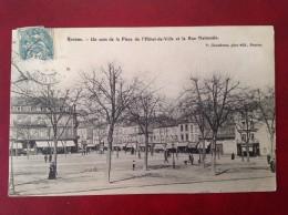 42 Loire ROANNE Un Coin De La Place De L'Hotel De Ville Et Rue Nationale - Roanne