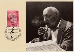 Schweiz MiNr. 1294 Europ.Jahr Der Musik /Ansermet Maximumkarte MK 7 - Maximumkarten (MC)
