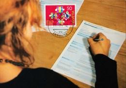Schweiz MiNr. 1435 Volkszählung Maximumkarte - Maximumkarten (MC)