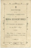 Hannut Merdorp Maria Dechentinnes 29 Mars 1891 - Hannut