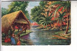 PAPUA NEW GUINEA, NEW IRELAND / NEUMECKLENBURG, Südseedorf - Papua-Neuguinea