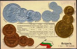 COIN CARDS-EMBOSSED METALLIC COLORS-BULGARIA- SCARCE-CC-08 - Monnaies (représentations)