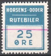 Denmark Local Railway Parcel Post,.Horsens-Odder Rutebil 25 Oere.Railways/Train S /Eisenbahnmarken . - Trains