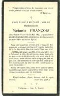 Tintigny Saint Vincent Mélanie François 1901 1929 - Tintigny