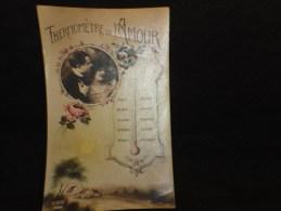 """Thème """" Le Temps """" Thermomètre De L ´ Amour. - Cartes Postales"""