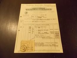 Tourcoing Emile Parmentier Filature Teinture Tissage 1948 - Textilos & Vestidos