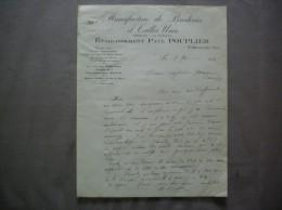 VERMAND AISNE ETABLISSEMENT PAUL POUPLIER MANUFACTURE DE BRODERIES ET TULLES UNIS COURRIER DE 1936 - Kleidung & Textil