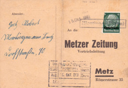 Lothringen Mi. 4 Auf Karte Gest. -  Ansehen!! - Occupazione 1938 – 45