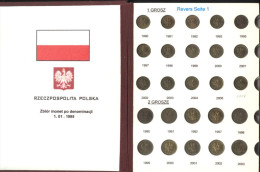 Polen Kleine Sammlung Kursmünzen 1 Grosz Bis 5 Zloty (Schön 282 Bis 290) Im Album; 85 Verschiedene - Pologne