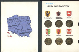 Polen Kleine Sammlung Provinzen / Wojewodschaften 2 Zlote (Schön 484 Bis 495, 527 Bis 530) Im Album; 16 Verschiedene - Polen