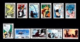 Australian Antarctic 1966 Definitives Set Of 11 MH - Unused Stamps