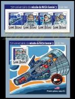 gb15318ab Guinea Bissau 2015 Space 50th anniversary of NASA's mission Gemini 3 2 s/s
