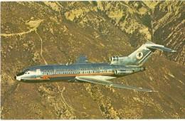 AVION AVIATION  AMERICAN AIRLINES 727 ASTROJET EDIT. PLASTICHROME NON ECRITE - 1946-....: Era Moderna