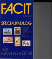 Facit-cataloog Scandinavia Uitgave 1978-1979 Gewicht 840g In Zeer Goede Staat - Postzegelcatalogus