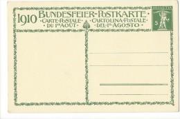 N5 - Fête Nationale Bundesfeier Carte N° 1 Neuve ( Format 145/95) - Interi Postali