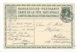 N11- Fête Nationale Bundesfeier Carte N°3  1er Jour 01.08.1912  Lausanne Pour Soleure - Entiers Postaux