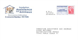 Fondation Assistance Aux Animaux 09r392 - Postal Stamped Stationery