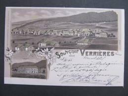 AK LES VERRIERES (NE) Litho Gare Bahnhof  1903 /// D*15855 - NE Neuenburg