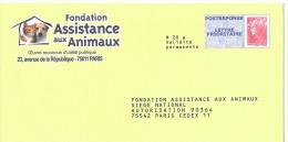 Fondation Assistance Aux Animaux 09p418 - Prêts-à-poster: Réponse /Beaujard