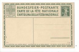 N17- Fête Nationale Bundesfeier Carte N°3  Carte Neuve 1912 (carton Jaune) - Interi Postali