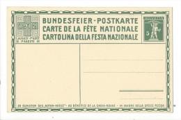N19- Fête Nationale Bundesfeier Carte N°4  Carte Neuve 1912 - Entiers Postaux