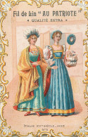 Fil De Lin   Au Patriote  Costumes  Italie 1450---  N°5  --bords Découpés, Gaufré - Kaufmanns- Und Zigarettenbilder